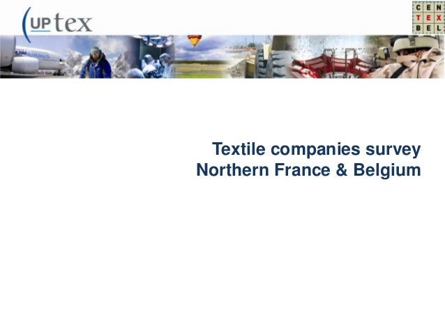 Textile companies survey Northern France & Belgium