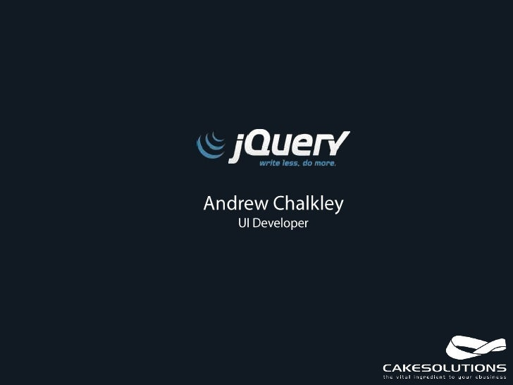 jQuery SUG Group Introduction