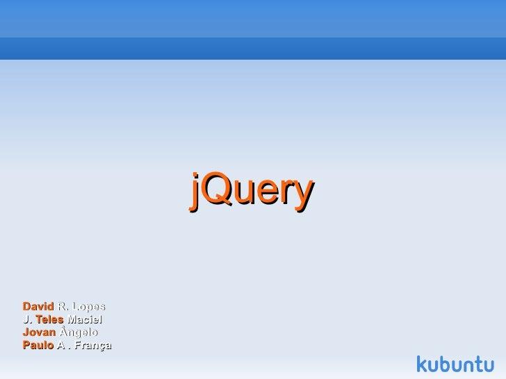 Jquery - Apresentação e aplicação prática