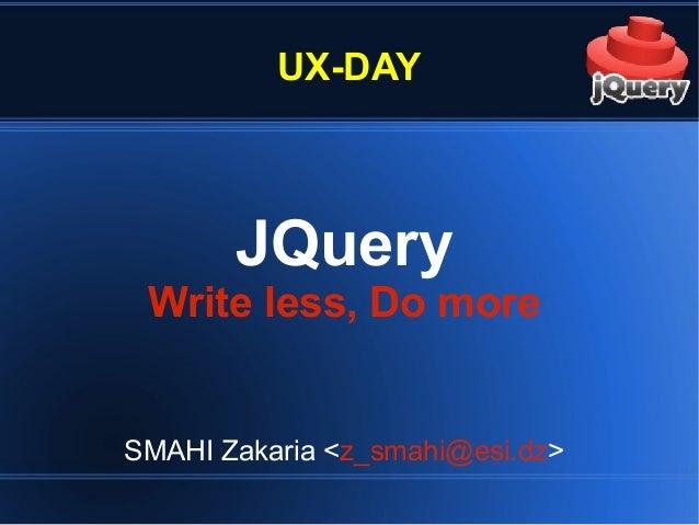 Apprenez le jQuery