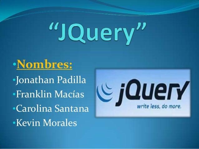J query