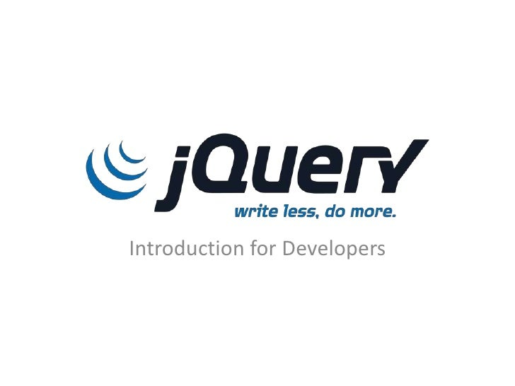 Stackoverflow DevDays: jQuery Introduction for Developers