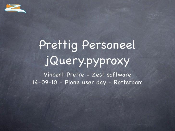 Jquery Pyproxy -  Vincent Pretre