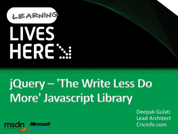 J Query   The Write Less Do More Javascript Library