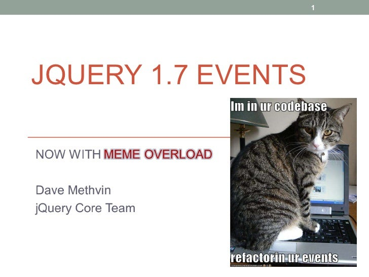 jQuery 1.7 Events