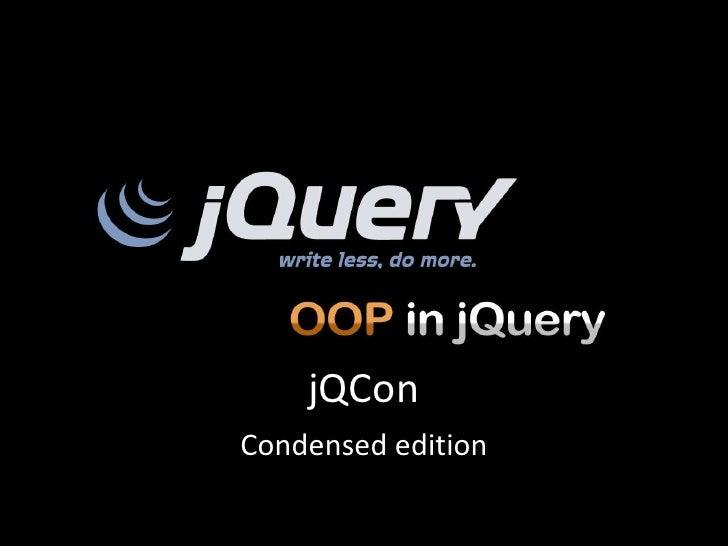 jQConCondensed edition