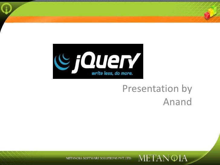 Presentation by Anand<br />