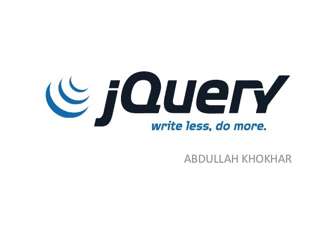 J query lecture 1