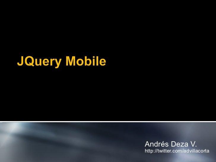 JQuery Mobile - Agile Open Lima IV
