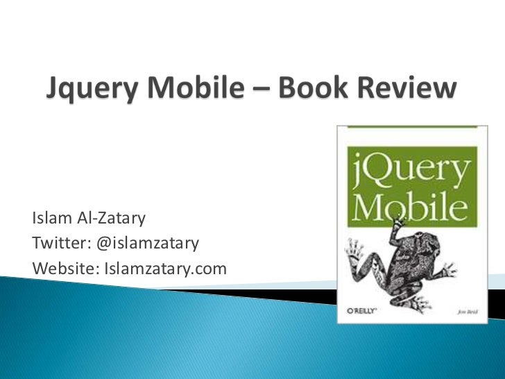 Jquery mobile book review