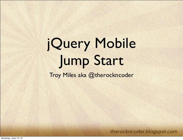 jQuery Mobile Jump Start