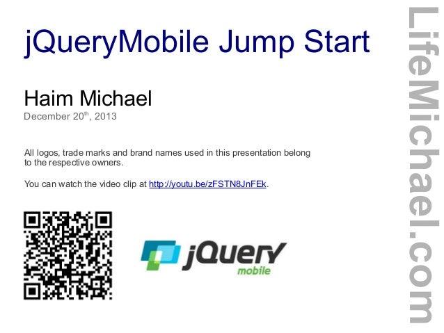jQueryMobile Jump Start