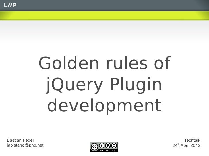 JQuery plugin development fundamentals