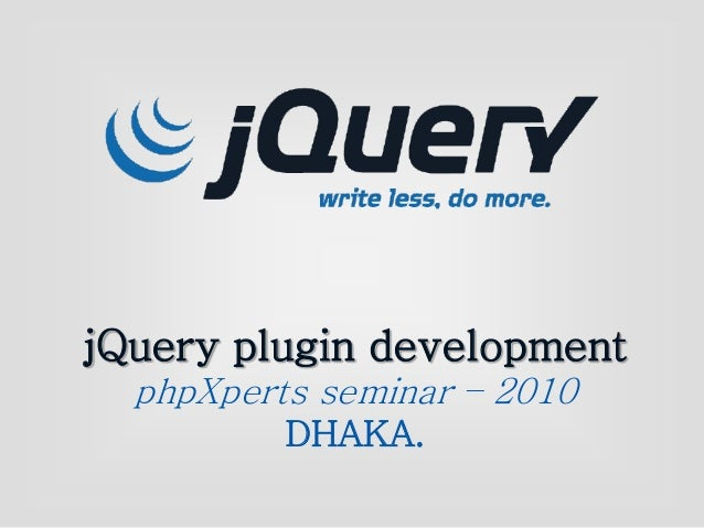 Jquery plugin development