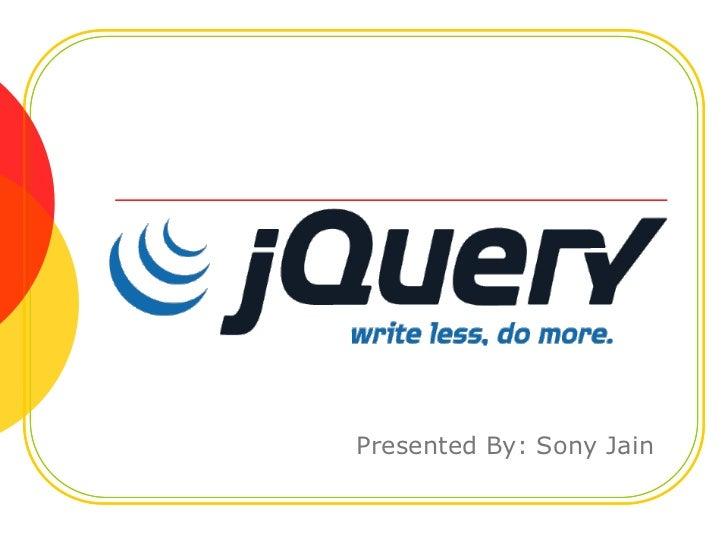 JQuery Presentation