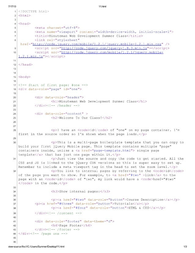 Jquery template 1 3 pages