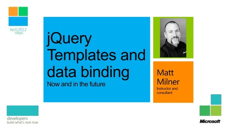 Ajax client library + jQuery'smeteoric rise to popularity• Shift in focus                                 MS contributes t...