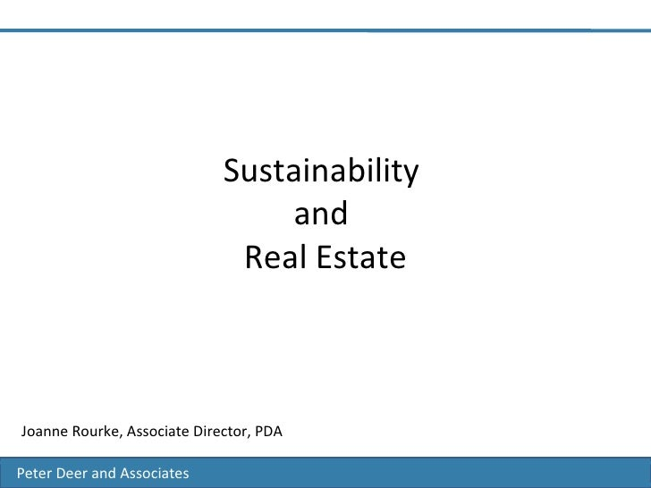 Peter Deer and Associates Sustainability    Environmental Consultancy Peter Deer and Associates Peter Deer and Associates...