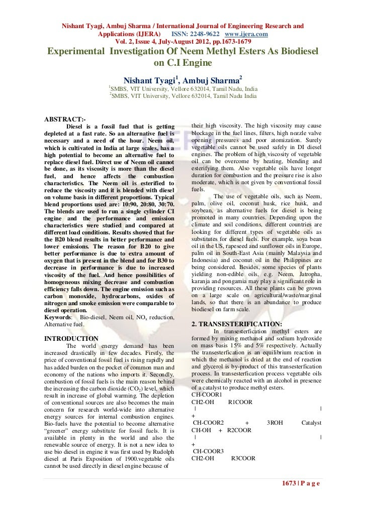 Nishant Tyagi, Ambuj Sharma / International Journal of Engineering Research and                  Applications (IJERA)     ...