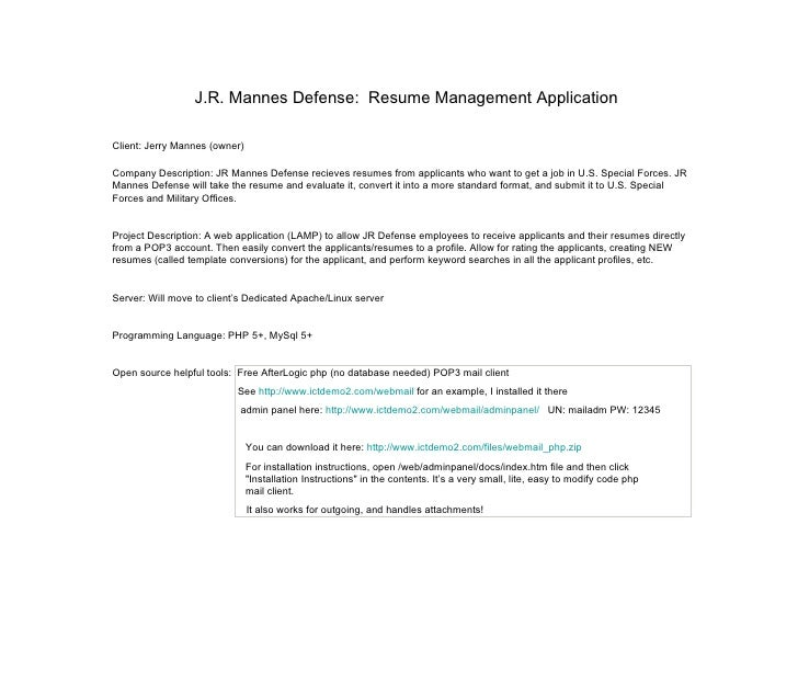 Resume & Applicant Profile Management Application