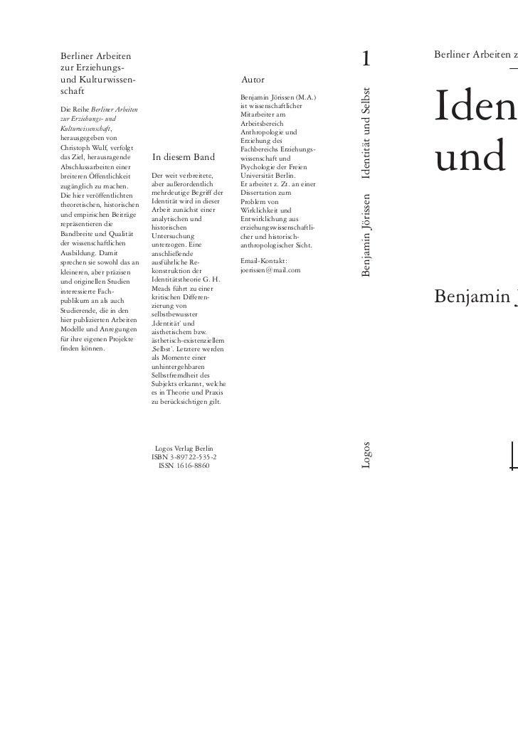 Jörissen, Benjamin (2000). Identität und Selbst