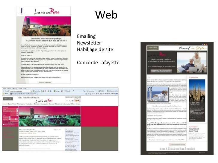 WebEmailingNewsletterHabillage de siteConcorde Lafayette