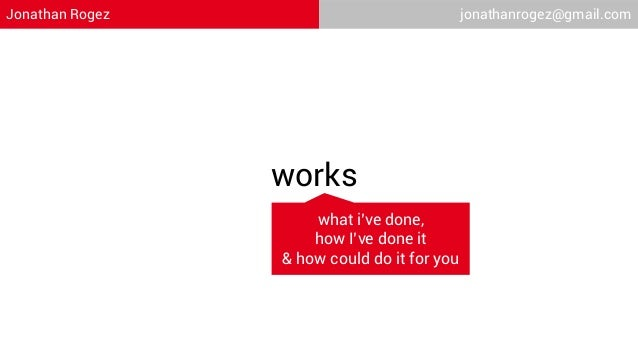 Jonathan Rogez                               jonathanrogez@gmail.com                 works                     what i've d...