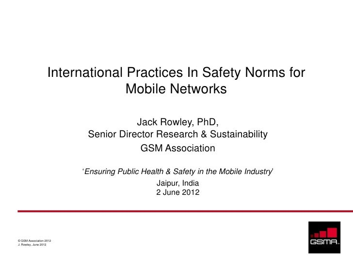International Practices In Safety Norms for                                 Mobile Networks                               ...