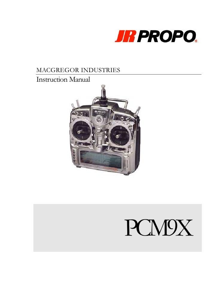 MACGREGOR INDUSTRIES Instruction Manual                            PCM9X