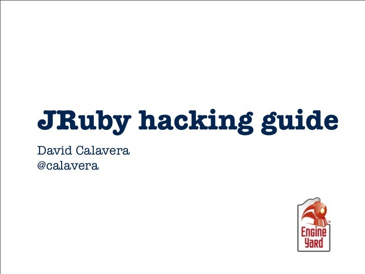 JRuby hacking guide