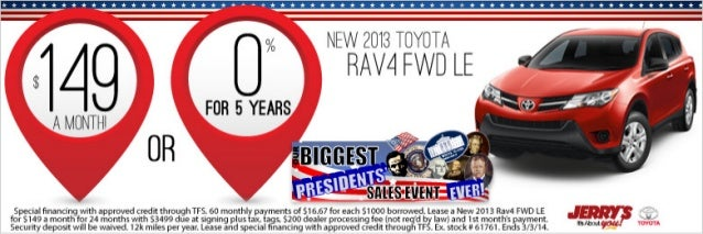 2013 Toyota Rav4 at Jerrys Toyota in Baltimore, Maryland