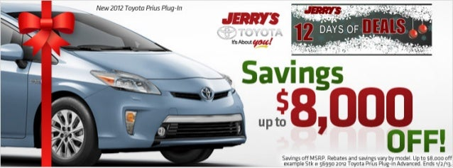 12 Days of Deals at Jerry's Toyota in Baltimore, Maryland