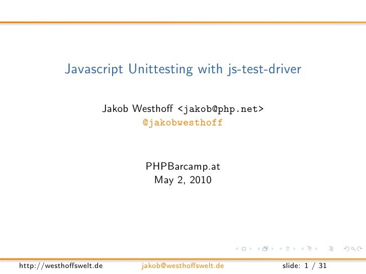 Javascript Unittesting with js-test-driver