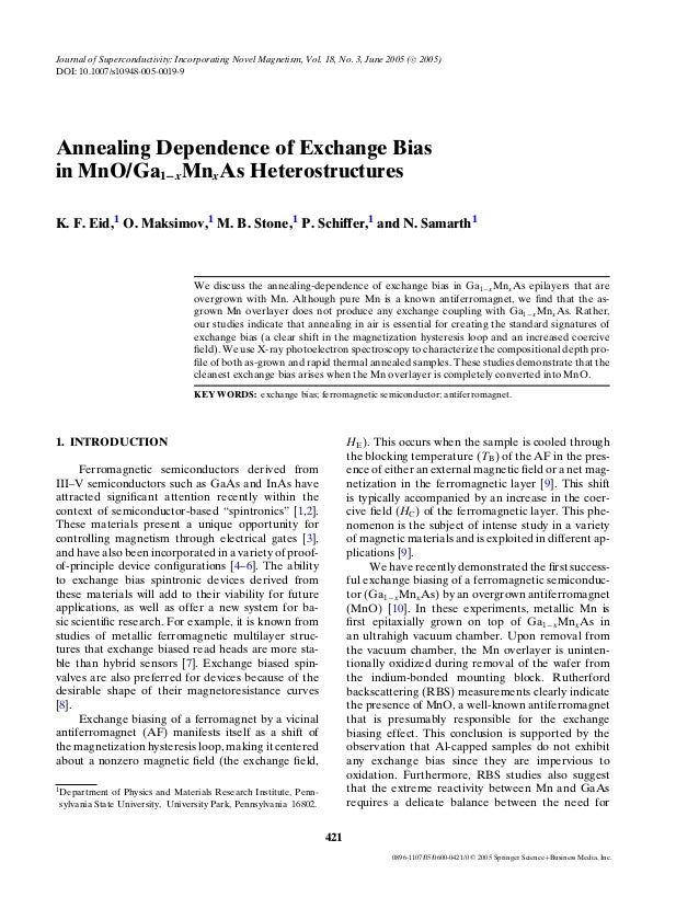 Annealing Dependence of Exchange Bias in MnO/Ga1−xMnxAs Heterostructures