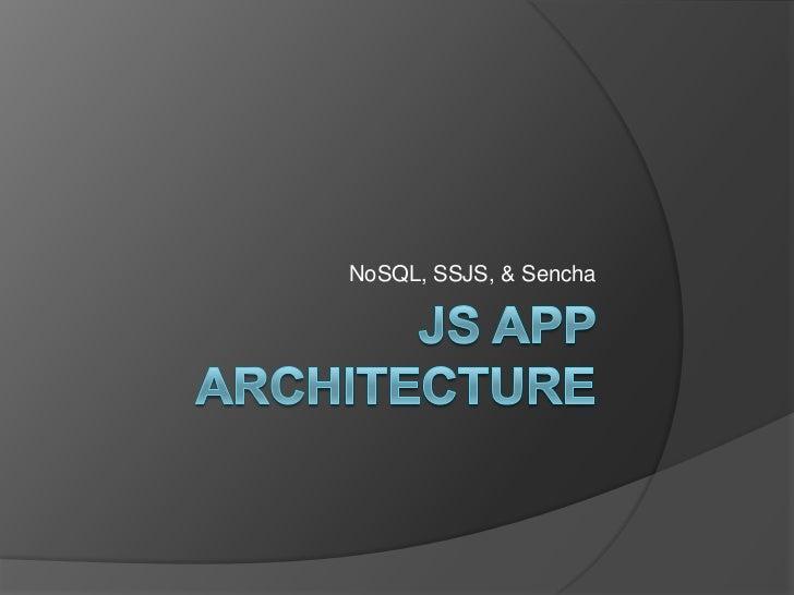 JS App Architecture