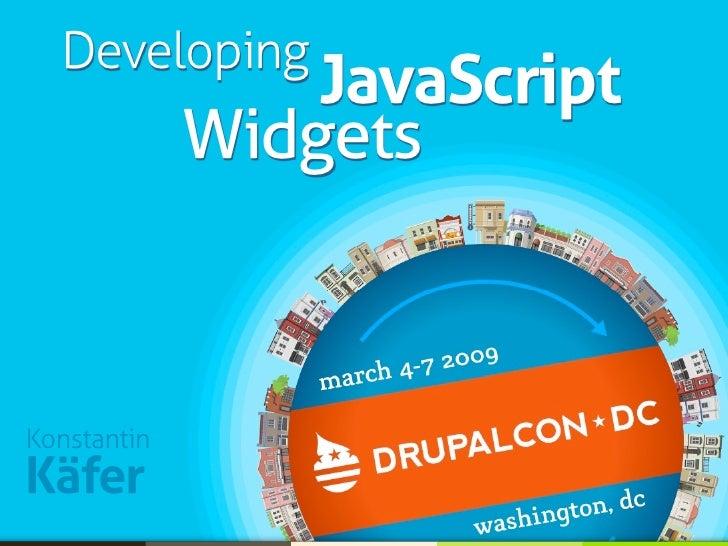 Developing JavaScript Widgets