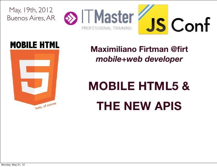 JSConf - Mobile HTML5