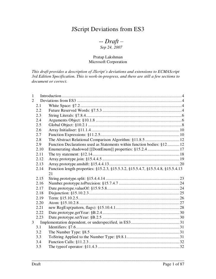 Jscriptdeviationsfromes3