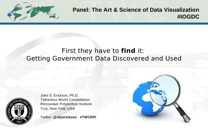 Panel: The Art & Science of Data Visualization                                                            #IOGDC          ...