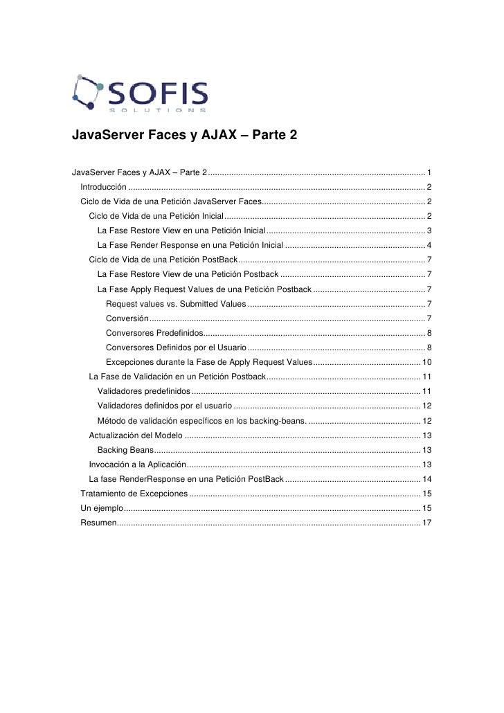 JavaServer Faces y AJAX – Parte 2  JavaServer Faces y AJAX – Parte 2 ........................................................