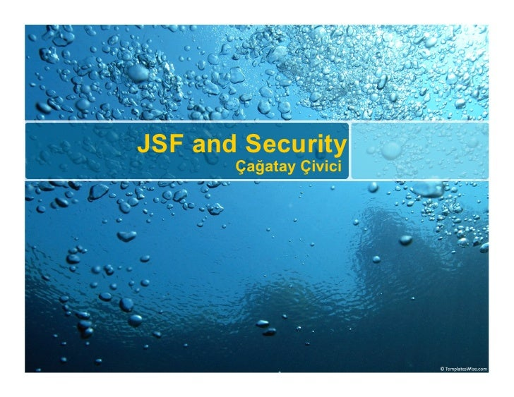 JSF and Security        Çağatay Çivici