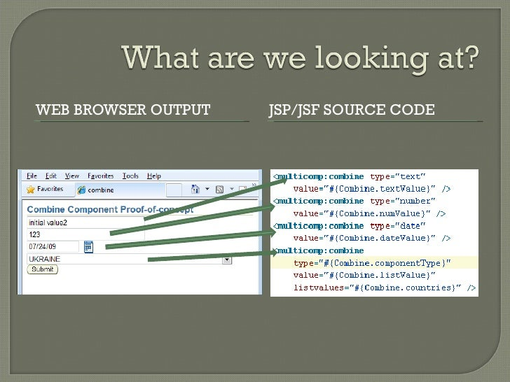 How to write custom component in jsf