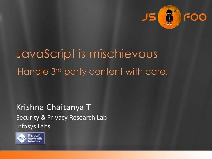 Krishna Chaitanya TSecurity & Privacy Research LabInfosys Labs