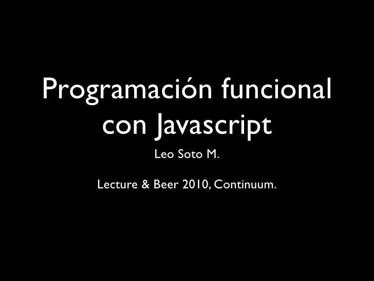 Javascript funcional