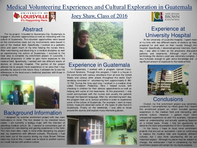 Medical Volunteering Experiences and Cultural Exploration in Guatemala by Joey Shaw