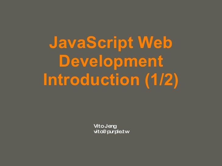 JavaScript Web Development