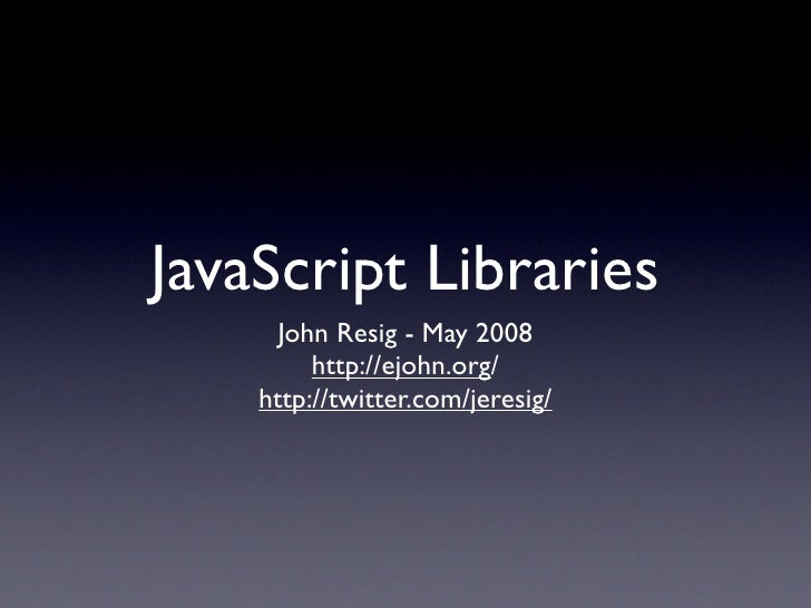 JavaScript Libraries (@Media)