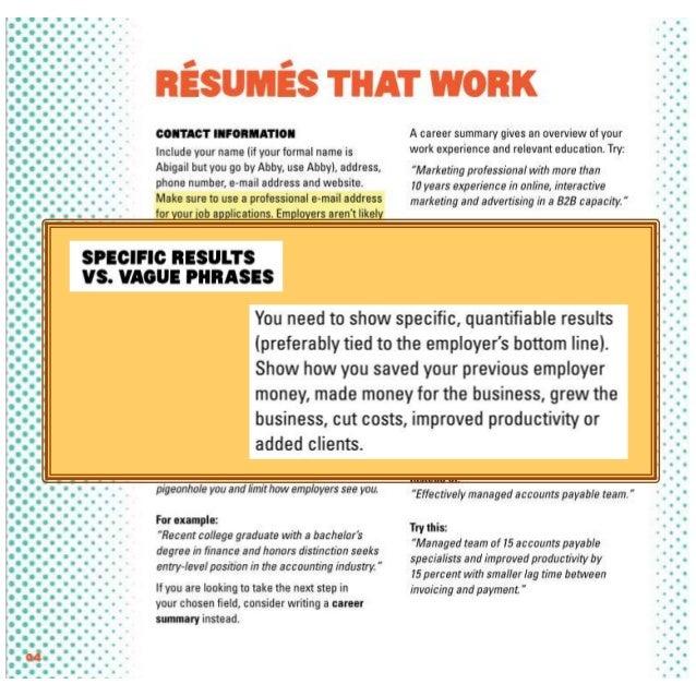 Accomplishments examples resume