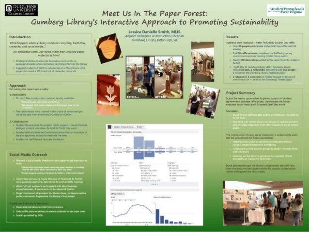 Gumberg Goes Green chart (Gumberg Library at Duquesne University)  Chart information created with assistance by David Nolf...