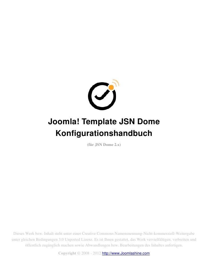 Joomla! Template JSN Dome                        Konfigurationshandbuch                                             (für J...